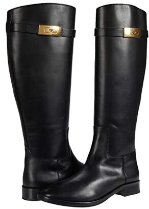 Tory Burch Riding Boot (Perfect Black) Women's Shoes