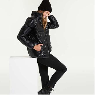 Joe Fresh Women's Puffer Jacket with PrimaLoft, JF Black (Size M)