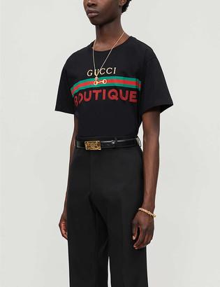 Gucci Boutique graphic-print cotton-jersey T-shirt