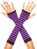 Music Legs Stripe fingerless gloves.