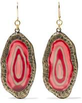 Kenneth Jay Lane Burnished Gold-Tone Resin Earrings