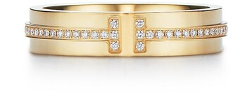 Tiffany & Co. & Co. T Two narrow ring in 18k gold with diamonds