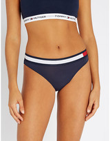 Tommy Hilfiger Stripe-trim mid-rise stretch-cotton bikini briefs