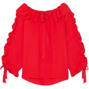 Paul & Joe Ruffled Crepe Blouse