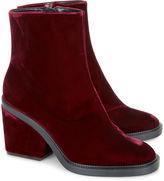 Robert Clergerie Bordeaux Velvet Ankle Boots