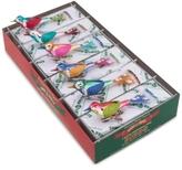 Christopher Radko Shiny Brite Christmas Confetti Mini Birds With Clips Boxed Ornaments, 6-Pc. Set