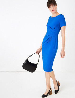 Marks and Spencer Ruched Front Knee Length Bodycon Dress