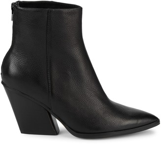 Dolce Vita Issa Leather Stacked Heel Booties