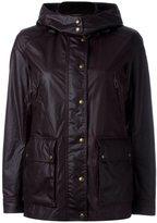 Belstaff leather-effect hooded jacket