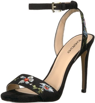 Bebe Women's Ingram Heeled Sandal Black 6 Medium US