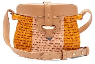 Khokho - Jabu Leather-trimmed Mini Basket Bag - Womens - Pink Multi