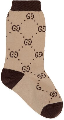 Gucci Children's cotton GG socks
