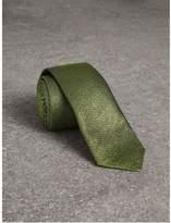 Burberry Slim Cut Metallic Silk Blend Tie