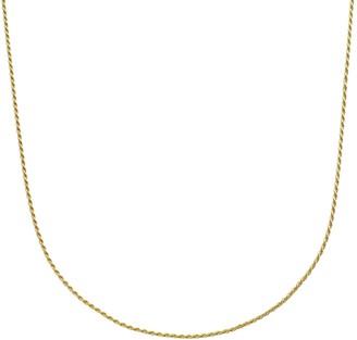 Primavera 24k Gold Over Silver Rope Chain Necklace