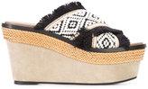 Barbara Bui crisscross strap platform sandals - women - Cotton/Leather - 39