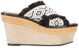 Barbara Bui crisscross strap platform sandals