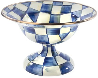 Mackenzie Childs Small Royal Check Compote