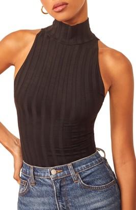 Reformation Isabel Turtleneck Sleeveless Bodysuit