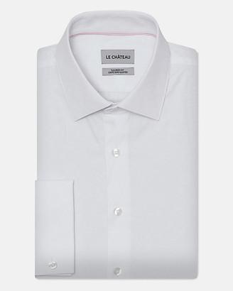 Le Château Floral Print Cotton Blend Tailored Fit Shirt