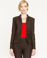Le Château Woven Inverted Collar Blazer
