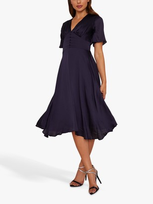 Chi Chi London October Dress, Dark Navy