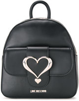 Love Moschino love buckle backpack - women - Polyurethane - One Size