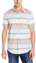 Ben Sherman Men's Short Sleeve Varried Stripe Woven