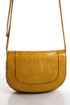 Hobo Brown Leather Crossbody Shoulder Handbag Size Small