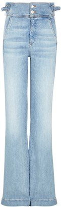Veronica Beard Vira Blue Wide-leg Jeans