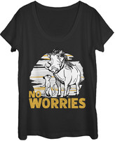Fifth Sun Women's Tee Shirts BLACK - The Lion King Black 'No Worries' Scoop Neck Tee - Women & Juniors
