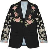 Gucci Marseille embroidered wool mohair evening jacket
