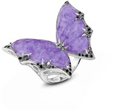 Stephen Webster 'Fly By Night' diamond amethyst 18k white gold batmoth ring