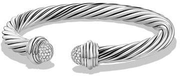 David Yurman 7mm Pave Diamond Dome Bracelet