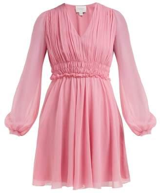 Giambattista Valli Gathered Silk-chiffon Mini Dress - Womens - Pink