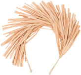 Gigi Burris Millinery fringed detail headband - women - Straw - One Size