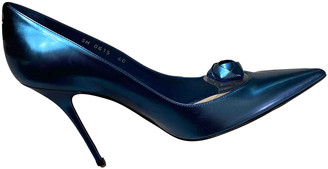 Christian Dior Blue Rubber Heels