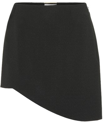 Saint Laurent Asymmetrical crepe miniskirt