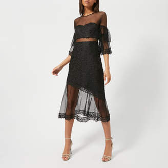 Three floor Women's Deep Moon Lace Dress
