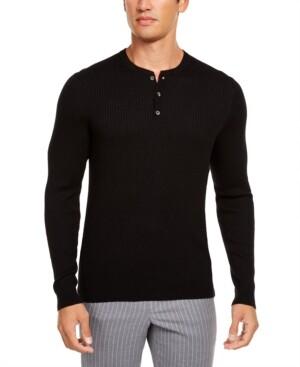 Tasso Elba Men's Luxe Henley Shirt