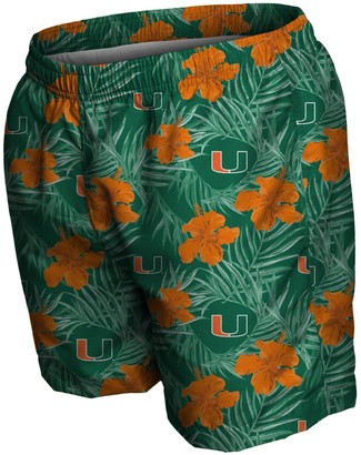 Men's Green Miami Hurricanes Swimming Trunks