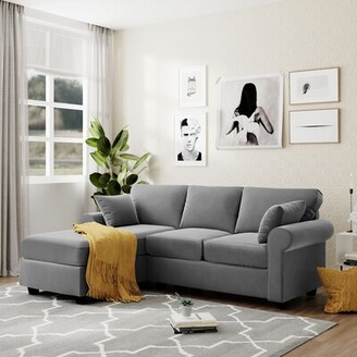 Winston Porter L-shaped Sofa Combination, Suitable For Living Room And Bedroom