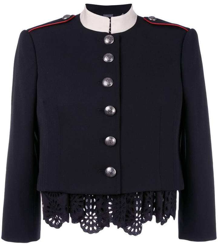 Alexander McQueen Military lace insert jacket