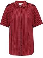 3.1 Phillip Lim Striped Cotton And Silk-Blend Shirt