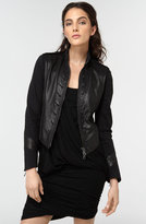 Rag & Bone 'Galloway' Leather Jacket with Cotton Sleeves