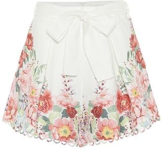 Zimmermann Bellitude floral linen shorts