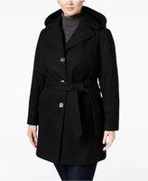 MICHAEL Michael Kors Size Hooded Walker Coat