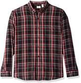 Dockers Long Sleeve Safari Plaid Teased Twill Woven Shirt