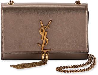Saint Laurent Kate Small Monogram Metallic Tassel Crossbody Bag