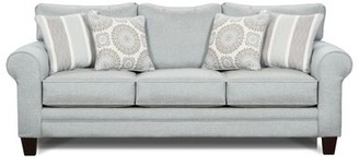 "Sedgley 88"" Round Arm Sofa Bed Charlton Home Fabric: Light Blue Polypropylene, Product Type: Sofa"