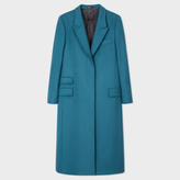 Paul Smith Women's Teal Wool-Cashmere Long Epsom Coat